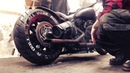 Harley Davidson EVO 1340 with drag pipes sound