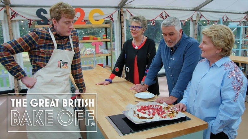 Bon appétit James Acaster serves up pure genius The Great Stand Up To Cancer Bake Off