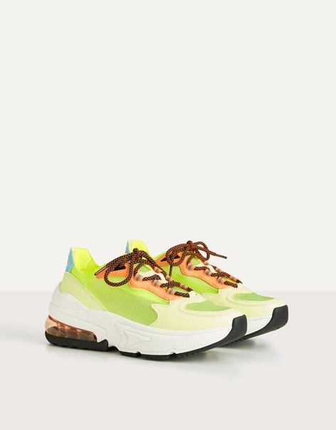 Полупрозрачные кроссовки неонового цвета image 1