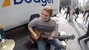 NEW YORK CITY Street Performers - (DARK SKY HUSTLERS J LA SOL) - 6th Ave 41st Street - Midtown