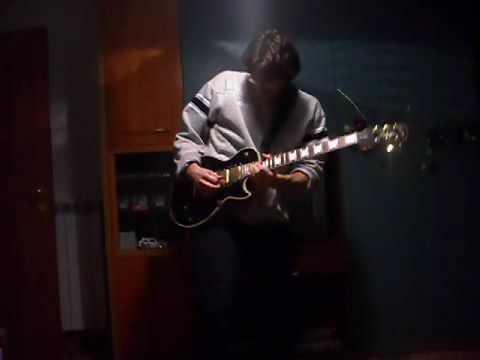 Guitar Improvisation on Rock Backin Track