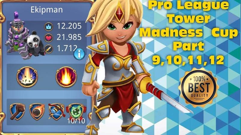 Royal Revolt 2 l Pro League Tower Madness Cup Part 9,10,11,12