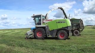 Уборка сенажа 2020: Claas Jaguar 870, МТЗ 1221 и К-700 продолжают заготавливать корма на зиму.