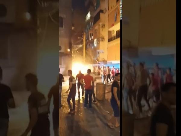 Мощный взрыв на топливном складе в Бейруте трое погибших Предварительно ещё 50 человек пострадали