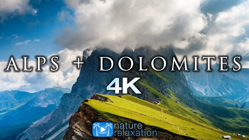 ALPS DOLOMITES 4K Timelapse Aerial Nature Relaxation™ Film Music for Stress Relief 23 Minutes