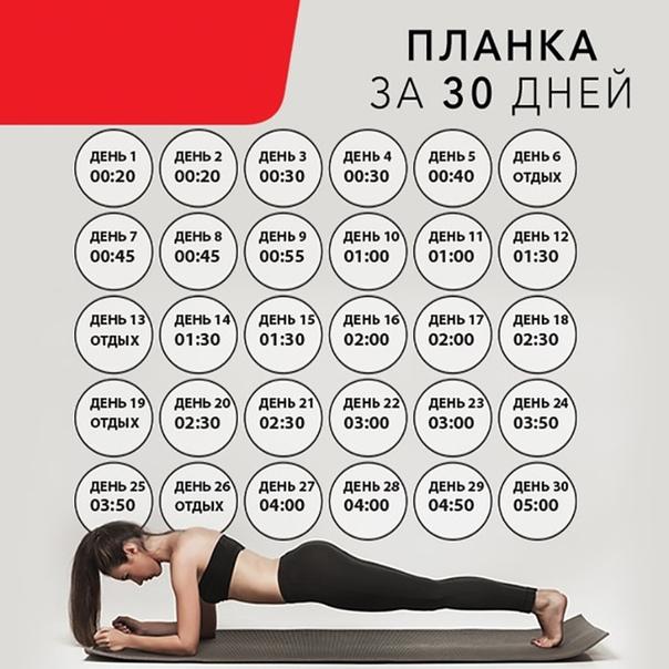 Схема Похудения 30 Дней. Комплекс упражнений для похудения всего тела