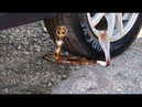 OMG TEST CAR vs Snake King Cobra Toy ball waterlemon Earth 7 up mentos JELLY toy