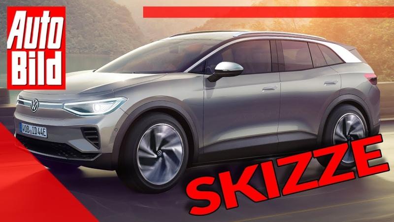 VW ID.4 2020 : Neuvorstellung Skizze SUV Elektro Infos