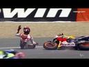 Жестокие падения с мотоцикла во время MOTOGP