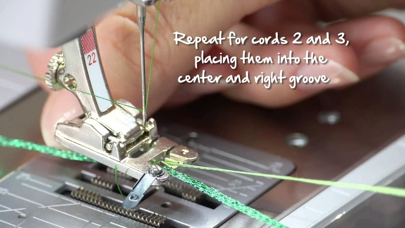 Tutorial: how to sew on cords and ribbons with the BERNINA braiding foot no. 21 22 and 25
