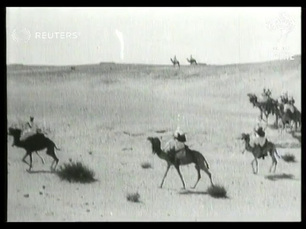 TRIPOLITANIA now Libya Mussolini's Camel Corps marches through desert 1930