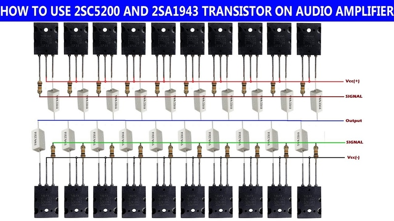 How to use 2SC5200 and 2SA1943 transistor on audio amplifier. Technical Mriganka.