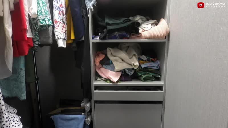 Крошка-прихожая 2 кв.м., в которой уместилась гардеробная и шкаф со встроенной гладильной доской
