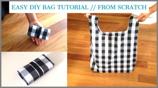 DIY BAG/TOTE BAG/HANDMADE SHOPPING BAG/bolsa diy/ bolsa de bricolaje/coudre un sac/DIY/