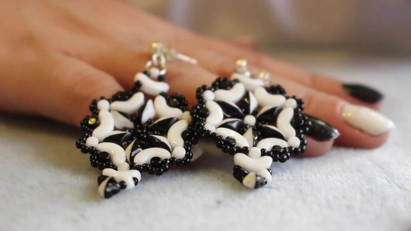 Tutorial orecchini Yin e Yang con perline arcos® minos® e gemduo
