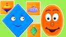 Геометрические фигуры для детей. РОМБ Развивающие мультики для детей 0-5 лет.