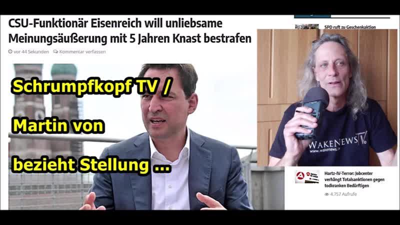 Schrumpfkopf TV / Bis zu 5 Jahre Haft für unliebsame Meinungsäußerungen ...
