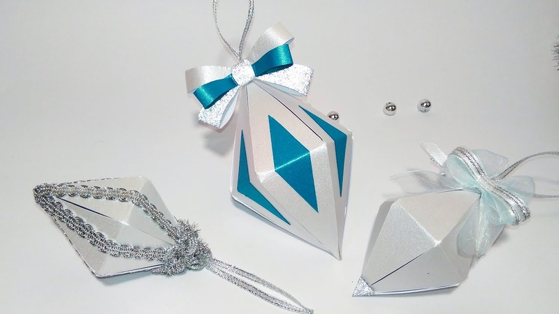 Super EASY Christmas tree ornaments from paper. Ideas for Christmas decorations 1