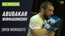 Abubakar Nurmagomedov trains with Islam Makhachev Javier Mendez at UFC Moscow Open Workouts