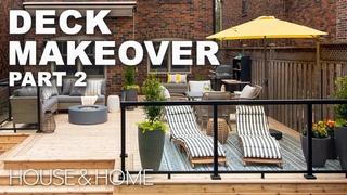 A Spacious Backyard Deck Becomes A Summer Oasis    House & Home