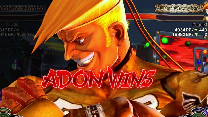 USF4 ▶ Adon Action Ultra Street Fighter IV