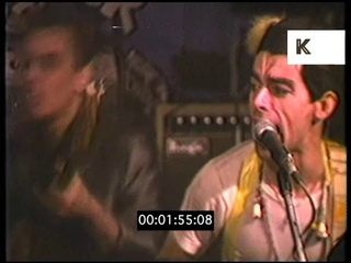 1980s UK, Ian Dury and the Blockheads Performing at The Hope and Anchor Pub, London