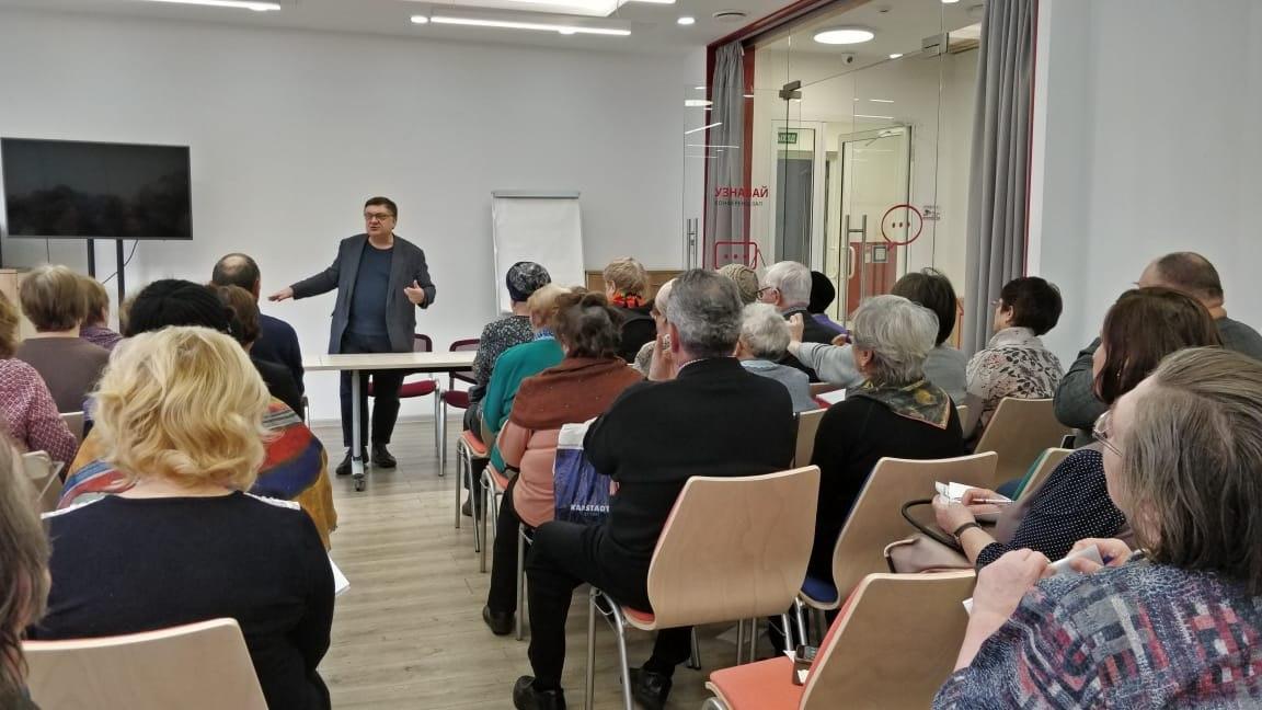 Участники проекта «Московское долголетие» из Выхина-Жулебина встретились с дачником Андреем Тумановым