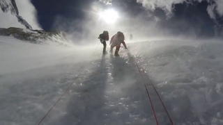Climbers Battling the Winds at Camp 3 on Everest | 2017