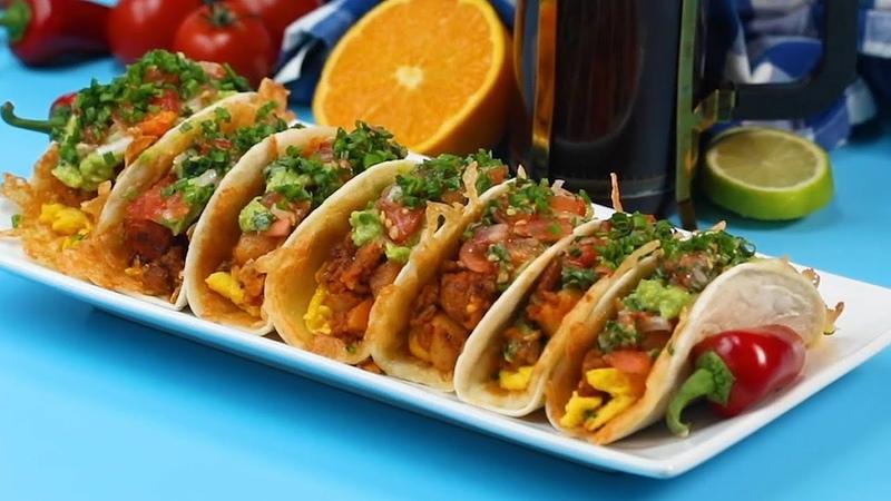 Cheesy Chorizo Breakfast Tacos Recipe