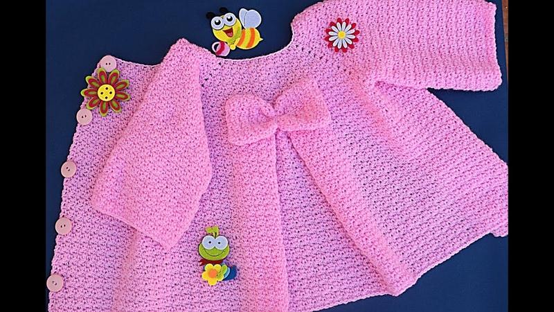 Abrigo de niña a crochet Majovel muy fácil crochet ganchillo