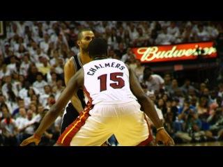 Phantom: LeBron James' BIG block on Tiago Splitter from 2 angles!