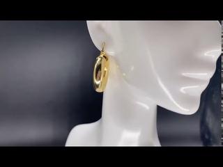 Женские круглые серьги кольца из стерлингового серебра 925 пробы в европейском стиле, ювелирные