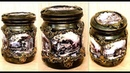 DIY Amazing glass jar decoration Decoupage on glas Home decor