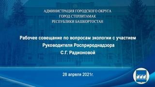 Рабочее совещание по вопросам экологии с участием Руководителя Росприроднадзора С.Г.Радионовой