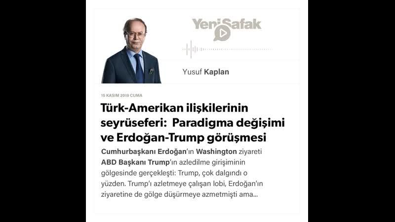 2. Yusuf Kaplan - Türk-Amerikan ilişkilerinin seyrüseferi Paradigma değişimi ve - 15.11.2019