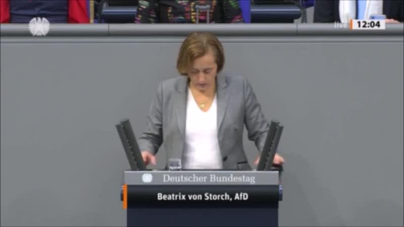 Beatrix von Storch (AfD) Bekämfung des Antisemitismus nach dem Anschlag von Halle