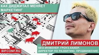 Дмитрий Лимонов, SEO-инженер, гроуз-хакер, директор по развитию, Продвижение