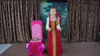 """""""Сказка о мёртвой царевне и семи богатырях"""" (отрывок) А.С.Пушкин. Попкова Алиса 11 лет."""