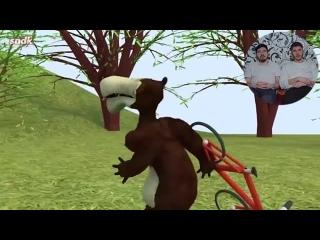 [НЕК И РУС] Не Смотри Маша и Медведь Мультик В 3:00 ЧАСА НОЧИ! *Проклятая серия* это ЖЕСТЬ !Потусторонние