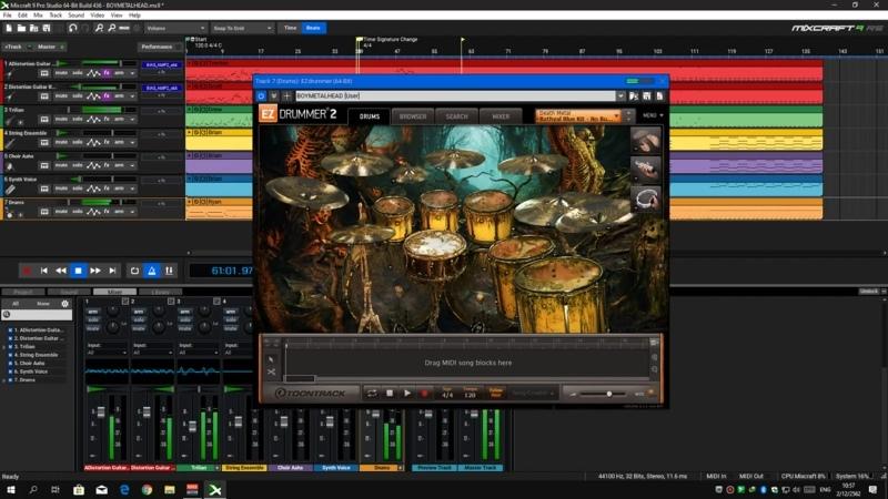 Toontrack Death Metal EZX.v1.0.1 Acoustica Mixcraft Recording Studio 9.0 Build