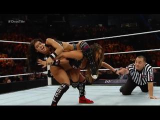 FULL MATCH - Paige vs. Nikki Bella vs. AJ Lee - WWE Divas Title Match (WWE Night of Champions 2014)