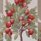 """Гобеленовое панно """"Гранатовое дерево"""" (70*105) Вертикальное."""