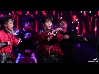 [161223 NCT 127 소방차 (Fire Truck) 태용 직캠 @신촌 크리스마스 거리축제 Fancam by -wA