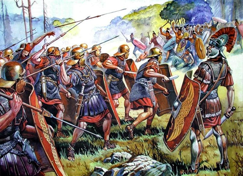 Легионеры готовятся встречать каких-то кельтов или германцев