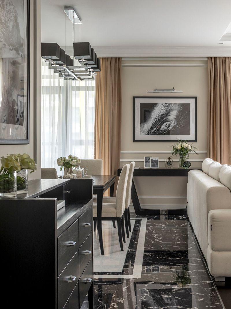 Интерьер квартиры 55 м (с лоджией – 59 м) в Москве.