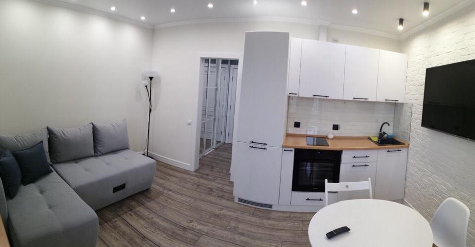 Завершен ремонт в квартире-студии 24 м, комната 13 м.