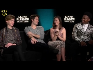 """[TBSubs] Интервью """"MadeinHollywoodTV"""" с кастом """"Maze Runner: The Death Cure"""" (Дилан, Томас, Кая, Декстер) (рус.саб)"""