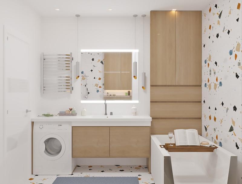 Проект квартиры-студии 29 м для молодой семьи с ребенком.