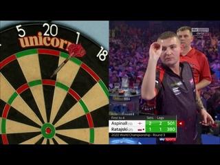 Nathan Aspinall vs Krzysztof Ratajski (PDC World Darts Championship 2020 / Round 3)