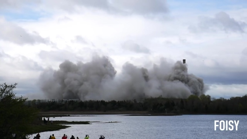Brayton Point Cooling Towers Implosion (Somerset, MA)